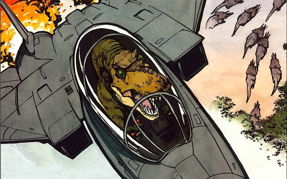 Tyrannosaurs in F-14s!!